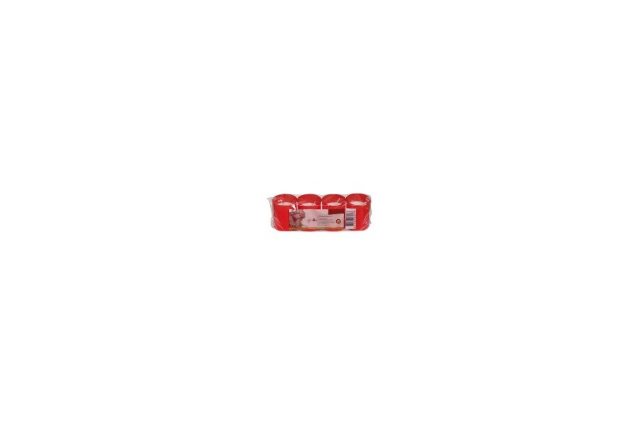 Pack 4 Bougies  votives rouge