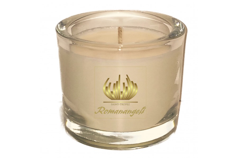 Bougie cylindrique verre épais 200 gr. YLANG YLANG
